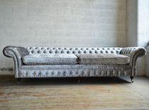 Chesterfield-Sofa / Samt / 4 Plätze / 5 Plätze