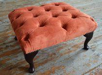 Chesterfield-Fußschemel / Textil / für Innenbereich