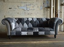 Chesterfield-Sofa / Gewebe / 3 Plätze / mehrfarbig