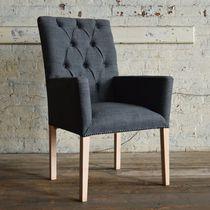 Esszimmerstuhl / Chesterfield / Holz / aus Wolle