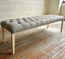 Bank für Innenbereich / Stil / Holz / Textil