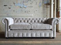 Chesterfield-Sofa / Samt / 2 Plätze / 3 Plätze