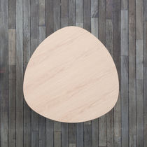 Moderner Tisch / Holz / gebogen