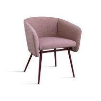 Moderner Esszimmerstuhl / aus Buche / Gewebe / Armlehnen