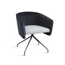 Moderner Sessel für Büro / Metall / Gewebe / Dreh
