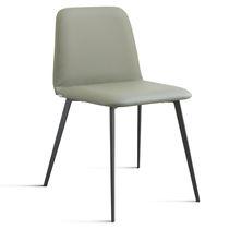 Moderner Stuhl / Samt / aus Buche / Leder