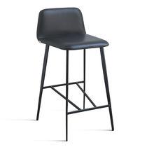 Moderner Barstuhl / Gewebe / Leder / Metall