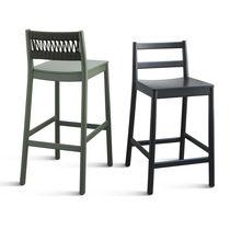 Moderner Stuhl / Gewebe / aus Buche / aus Sperrholz