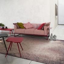 Modernes Sofa / Gewebe / 3 Plätze / braun