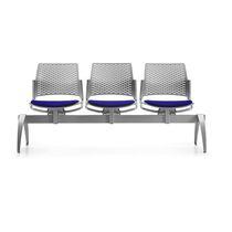 Metalltraversenbänke / Gewebe / 3 Plätze / 2 Plätze
