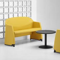 Modernes Sofa / aus Stahl / für öffentliche Einrichtungen / für Hotels