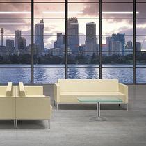 Modernes Sofa / aus Metall / Gewebe / für öffentliche Einrichtungen