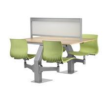 Moderne Tisch- und Stuhlkombination / Holz / aus Metall / für Innenbereich