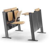 Moderne Tisch- und Stuhlkombination / aus Buche / aus Metall / für Innenbereich