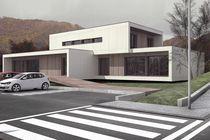 Fertigbau-Gebäude / Modul / Passiv / für Büro