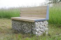 Parkbank / für den Garten / modern / verzinkter Stahl