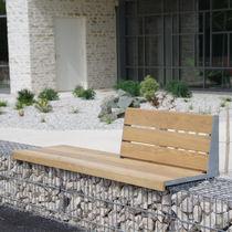 Parkbank / für den Garten / modern / Massivholz