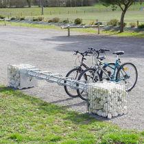 Gabione für Außenausbau / verzinkter Stahl / mit integrierten Fahrradständern