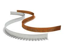 Randstein für den Garten / Aluminium / linear / gebogen