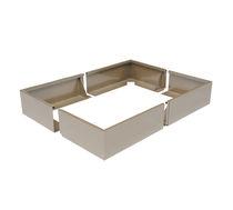 Aluminium-Pflanzkübel / rechteckig / modern