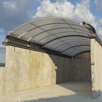 Aluminiumdach / aus Polycarbonat / Schiebefenster / einschiebbar