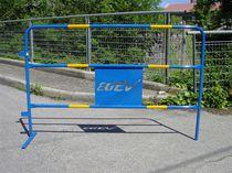 Schutzabsperrung / aus Stahl / für Baustellen