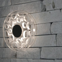 Wandleuchte / originelles Design / Edelstahl / aus Polycarbonat / LED