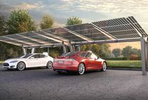 Stahlcarport / Gewerbe / mit integrierten Solarmodulen