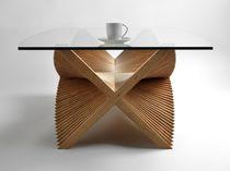 Moderner Couchtisch / Holz / rechteckig / Innen