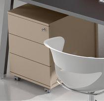 Metall-Büroschubladenschrank / Holz / Melamin / 3-Schubladen