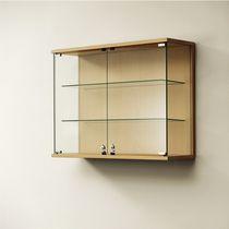 Moderne Vitrine / wandmontiert / Glas / Holz