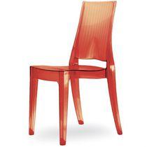 Moderner Besucherstuhl / Stapel / recycelbar / aus Polycarbonat