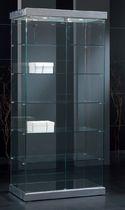 Moderne Vitrine / mit Fußgestell / Glas / beleuchtet