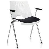 Moderner Besucherstuhl / mit Armlehnen / Stahl / aus Polypropylen