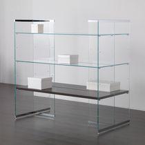 Mehrzweck-Ablageregal / für Kleidungsstücke / Holz / Glas