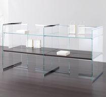 Mehrzweck-Ablageregal / Holz / Glas / Gewerbe