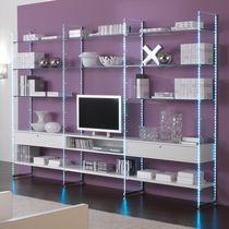 Moderne Wohnwand / Holz / Glas / Modul