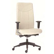 Moderner Sessel für Büro / Leder / mit Rollen