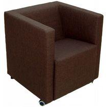 Moderner Sessel / Kunstleder / grün / orange