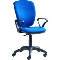 Moderner Bürostuhl / mit Rollen / Leder / Metall