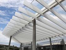 Verbundwerkstoffplatte für Bauanwendungen / Aluminium / zur Außenraumgestaltung