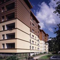 Fassadenverkleidung aus Verbundwerkstoff / Aluminium / geriffelt / Platten