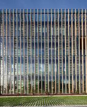 Fassadenverkleidung aus Verbundwerkstoff / Aluminium / profiliert / Platten