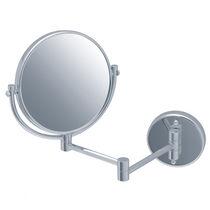 Wandmontierter Spiegel / Rasier / modern / rund