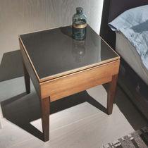 Nachttisch / modern / Glas / aus Eiche