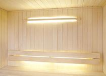 Moderne Wandleuchte / für Saunen / linear / Glas