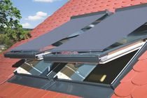 Gerollte Rollos / aus Leinen / außen / für Dachfenster