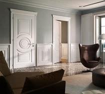 Innenbereich-Tür / einflügelig / Holz / lackiert