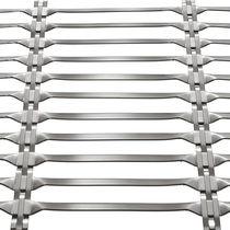 Metallgewebe für Fassaden / für Sonnenschutz / Edelstahl / Langmaschen