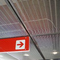 Abgehängte Decke / Edelstahl / Metallgewebe / in Plattenform / Schallschutz